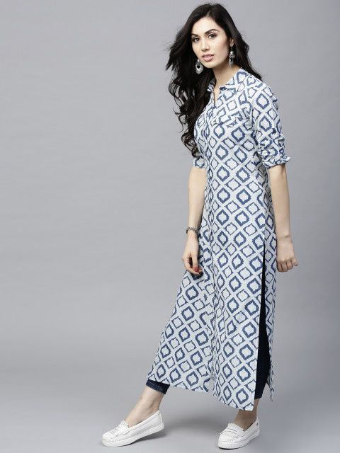 fe4683ae676 Women indian kurta kurti Long shrug Dress top tees bottom Floral gown  new-nk383 #Handmade #kurta #casualpartywear