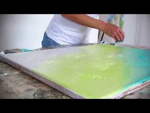 Abstract Painting Technique – Abstract Painting Demonstration (1) – Acrylic Background – Althea – YouTube