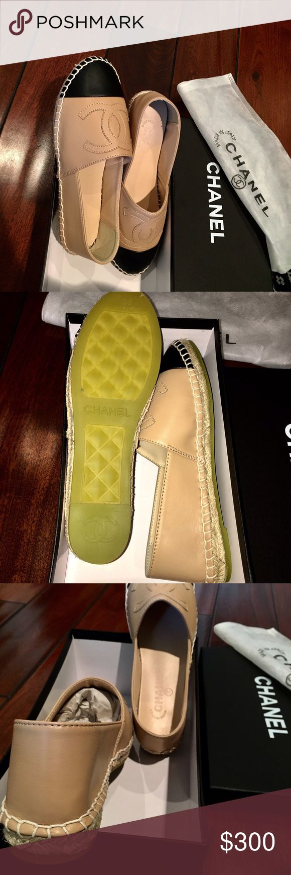 CHANEL ESPADRILLES Price is firm and reflects authenticity. Never worn. True to size. Selling a true US 7.5 (bottom says 39) AND a true us 7 (bottom says 38). Comes with box & dust bags. Will sell for cheaper on other apps (Ven-Mo, Pay.P) CHANEL Shoes Espadrilles