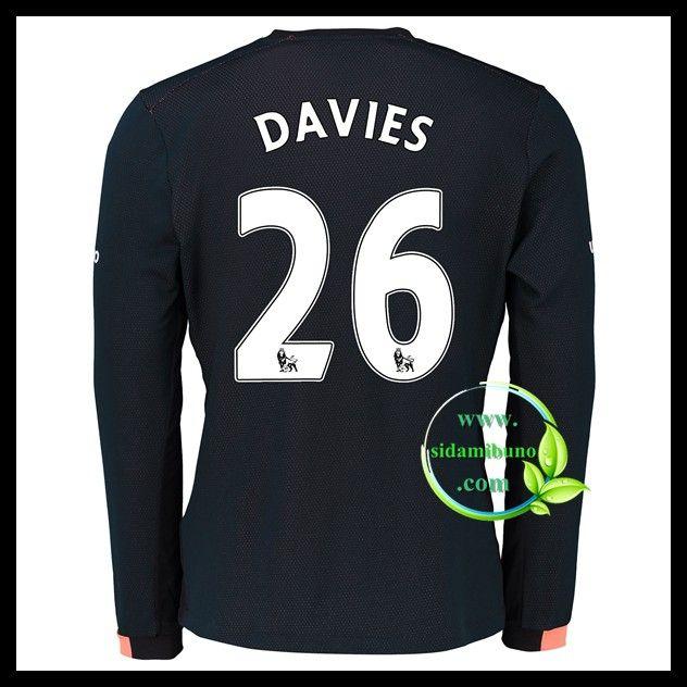 Fotballdrakter Everton Langermet DAVIES #26 Bortedraktsett 2016-2017