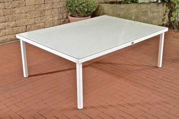 Tisch Pizzo Tropea 210x150 Cm Weiss Tisch Polyrattan Tisch