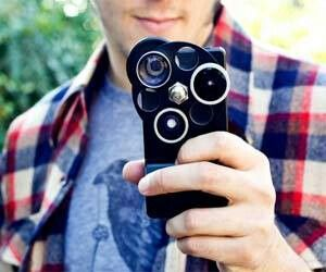 Different lenses on an iPhone case! Unreal...