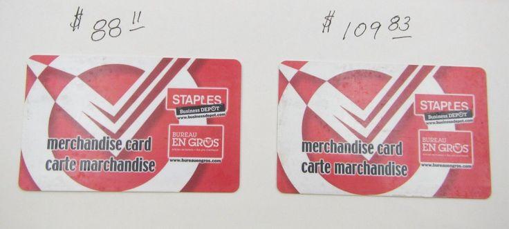 staples gift card balance canada