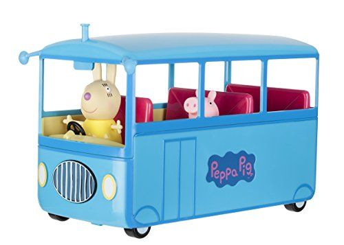 Come on a school bus trip with Peppa Pig! Miss Rabbit is ready to take Peppa and friends on a school bus adventure where they'll sing their favorite bus song the Bing Bong Song! The roof is remov...
