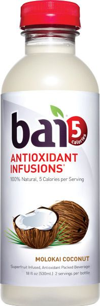 bai5 Molokai Coconut - 100% Natural, 5 calories per serving. Superfruit Infused,  Antioxidants and Electrolyte Packed Beverage. There are 9g carbs in total, but the non-net carbs here have no calories or effect on blood sugar.