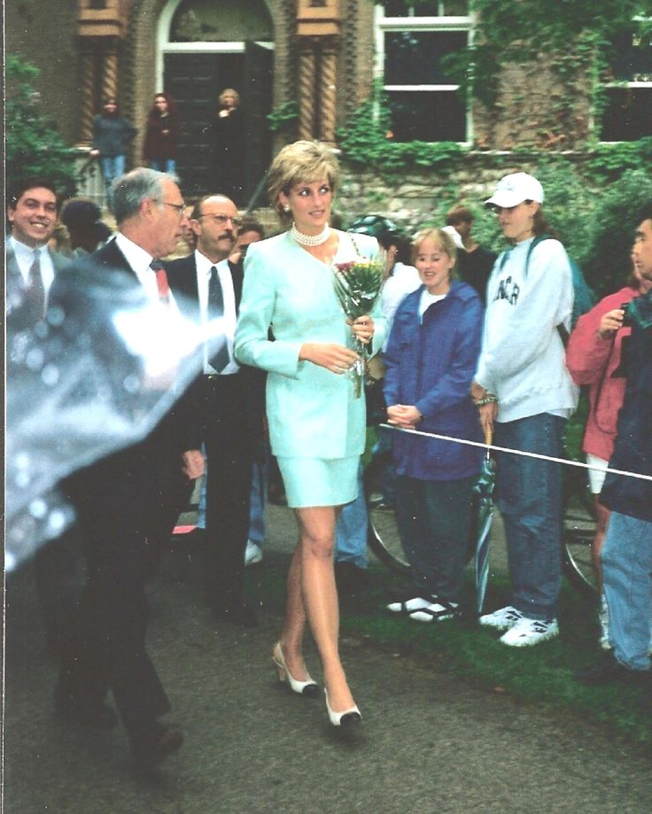 Princess Diana walking our way.  Northwestern University in Chicago June 4, 1996 (Photo courtesy of Kelly Mcdannald)