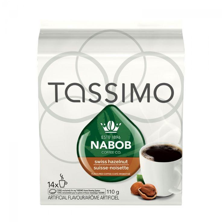 Tassimo Nabob Swiss Hazelnut Coffee 14 T-Discs | Delicious flavourful blend of medium roast coffee with hazelnut. #tdisc #tassimo #hazelnut #nabob