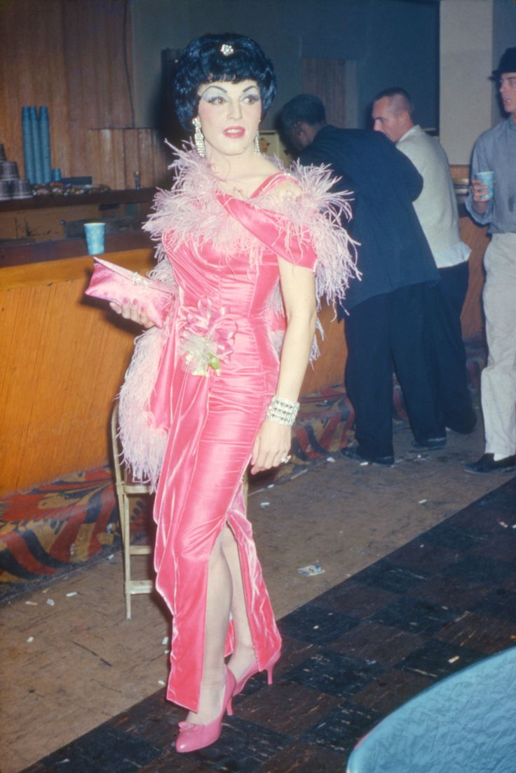 An option for Mary when she borrows a drag queens dress? Something just totally ugly and over the top?