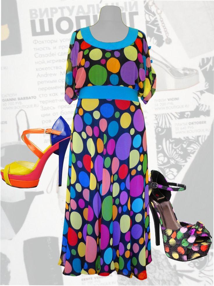 """56$ Шифоновое платье для полных женщин """"Горох"""" Артикул 469, р50-64 Платья больших размеров  Платья в горох больших размеров  Шифоновые платья больших размеров  Летние платья больших размеров Платья в горошек больших размеров  Платья нарядные больших размеров  Дизайнерские платья больших размеров Красивые платья больших размеров  Модные платья больших размеров  Стильные платья больших размеров"""