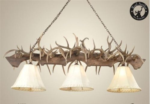 deer antler decorating ideas | Coues Deer Antler Pool Table Chandelier
