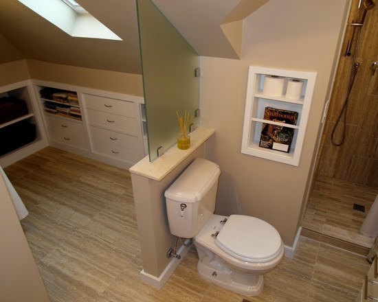 Clever Attic Bathroom Complete With Shower Amp Built In