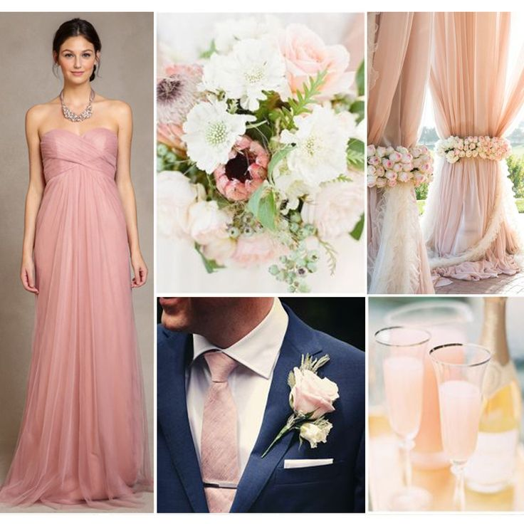 Best 25 pink champagne wedding ideas on pinterest for Champagne pink wedding dresses