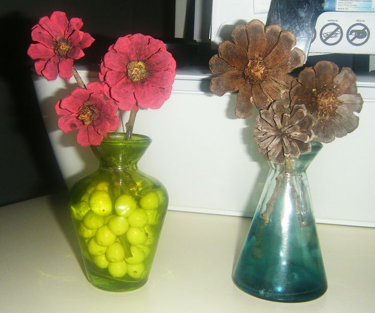 flower arrangements with cut pine cones my crafts some for sale