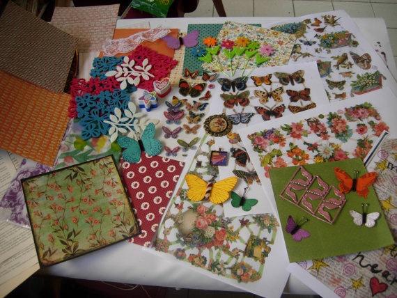 The Butterfly art kitpack of many art supplies for by eltsamp, $75.00