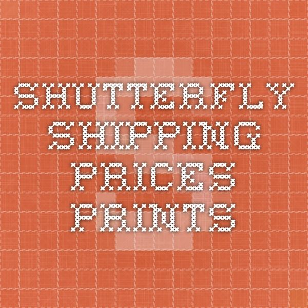 Shutterfly Shipping Prices - Prints