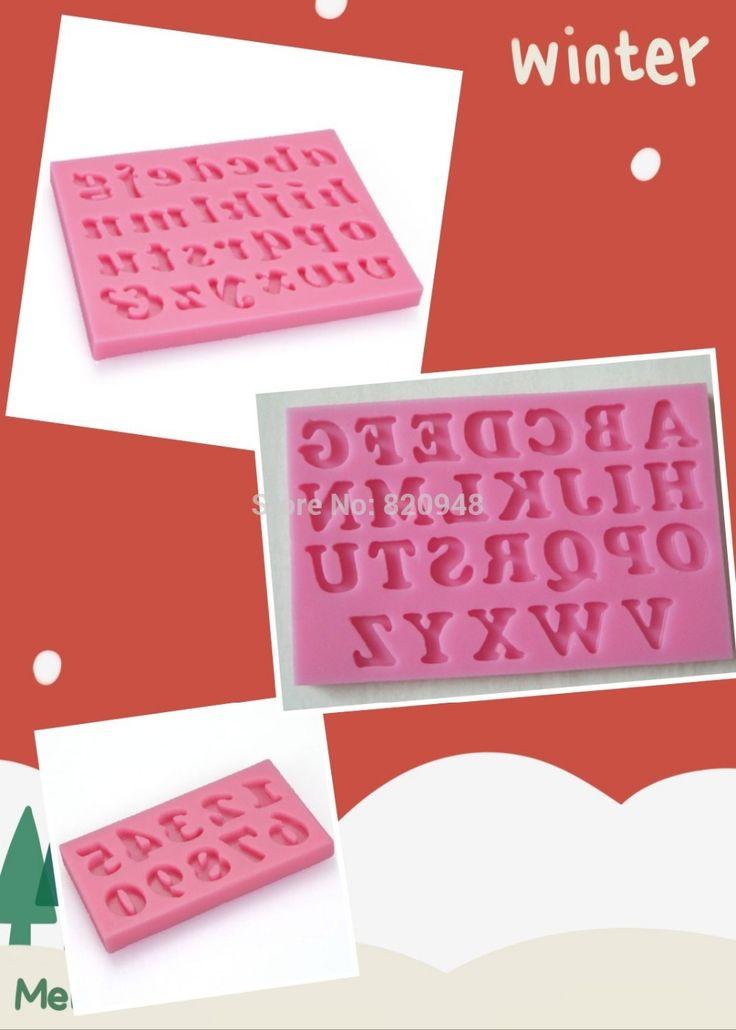 Бесплатная доставка 3 шт = 1 комплект букв алфавита номер 3 D Fondant Fun торт Кекс Топпер Формы для выпечки силиконовые формы, принадлежащий категории Формы для тортов и относящийся к Дом и сад на сайте AliExpress.com   Alibaba Group