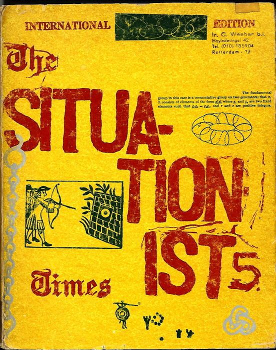 Jacqueline de Jong - The Situationist Times 5 - Paris, Jacqueline de Jong, 1964 - 218 pp - stitch-bound with illustrated front cover - 20 × 30 cm.   Condition: good, spine slightly worn.
