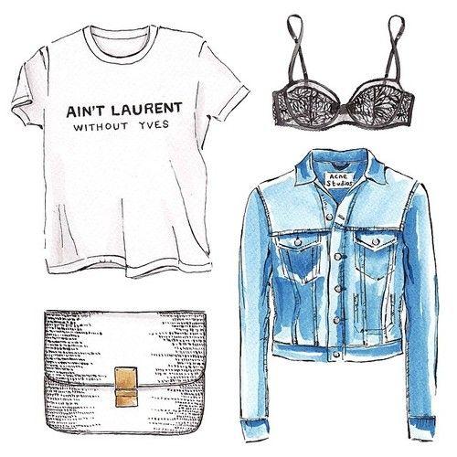 Good objects - Back to basics edition! black + white + denim #aintlaurent…