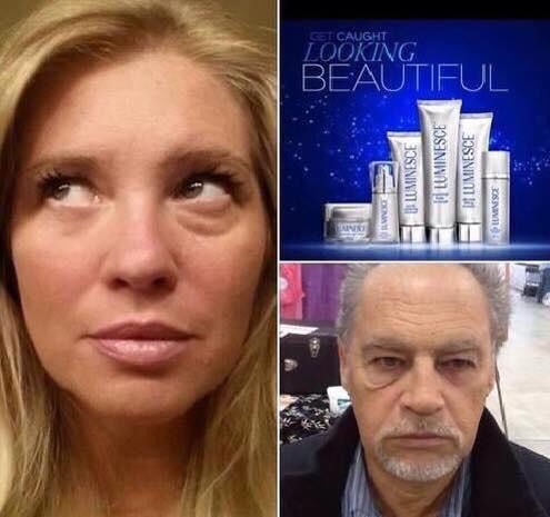For both men and women.  Check out the difference in the eye with our skin care compared to the other one!