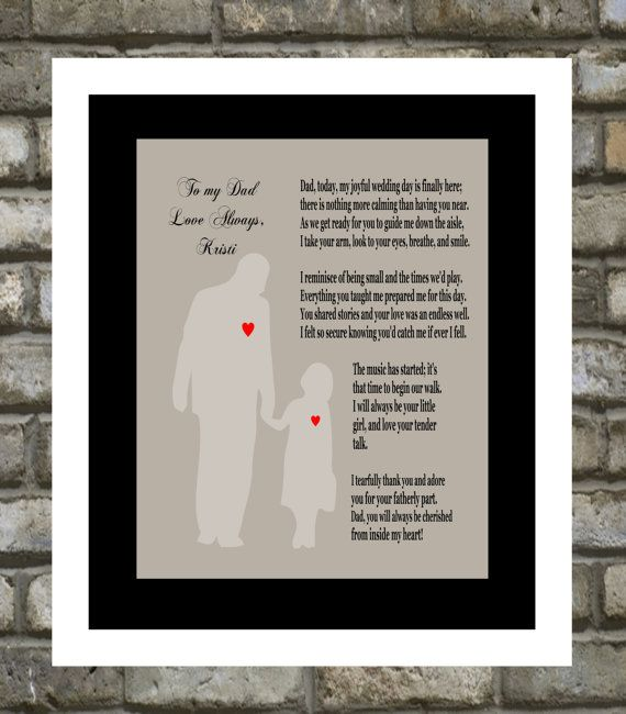 Personalized Wedding Gift : For Parents Thank You - Father Of The ...