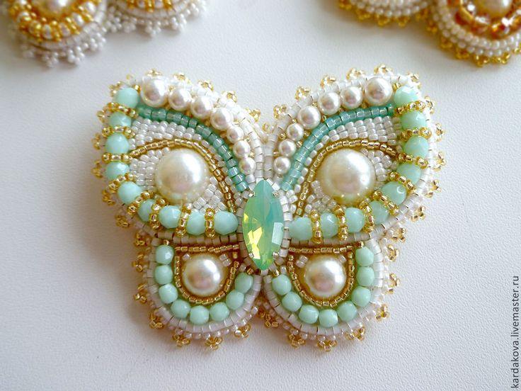 """Купить Броши """"Бабочка"""" разные - разноцветный, бабочка ручной работы, бабочка для жениха, брошь бабочка"""