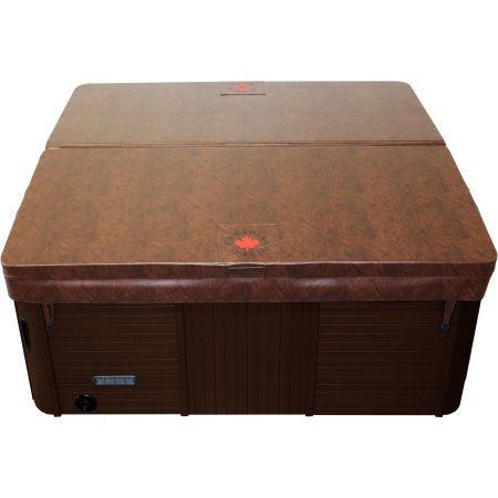 Canadian Spa Co. Rectangular Spa Cover with 5in x 3in Taper, 6in Radius, Brown