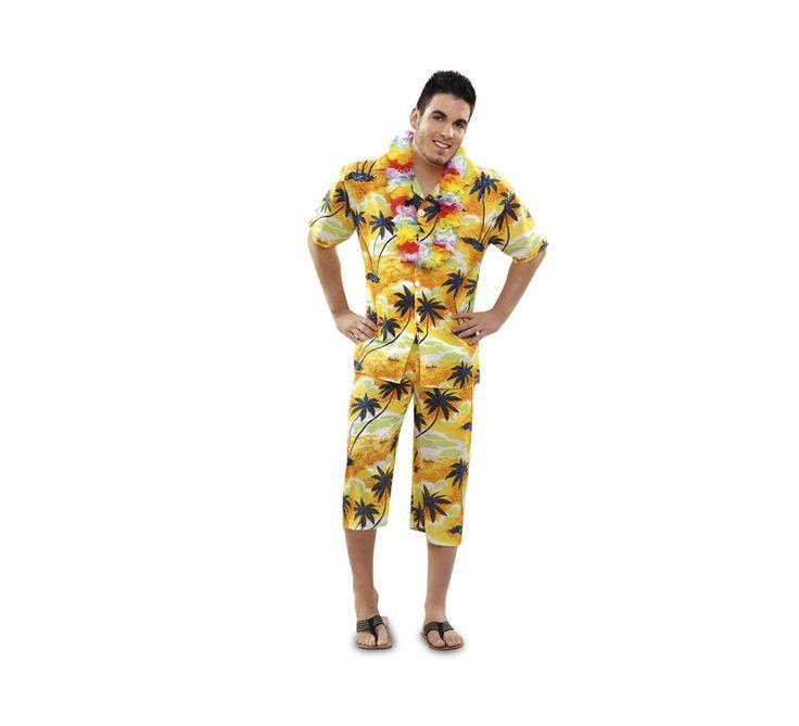 #Disfraz de #Hawaiano o #Turista para hombre talla M-L. Incluye camisa y pantalón.  #fiestahawaiana #despedidadesoltero #hawai #hawaii