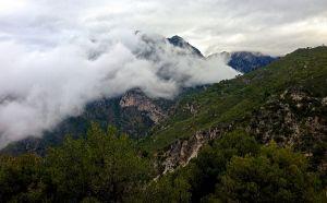 Mountain range behind Nerja