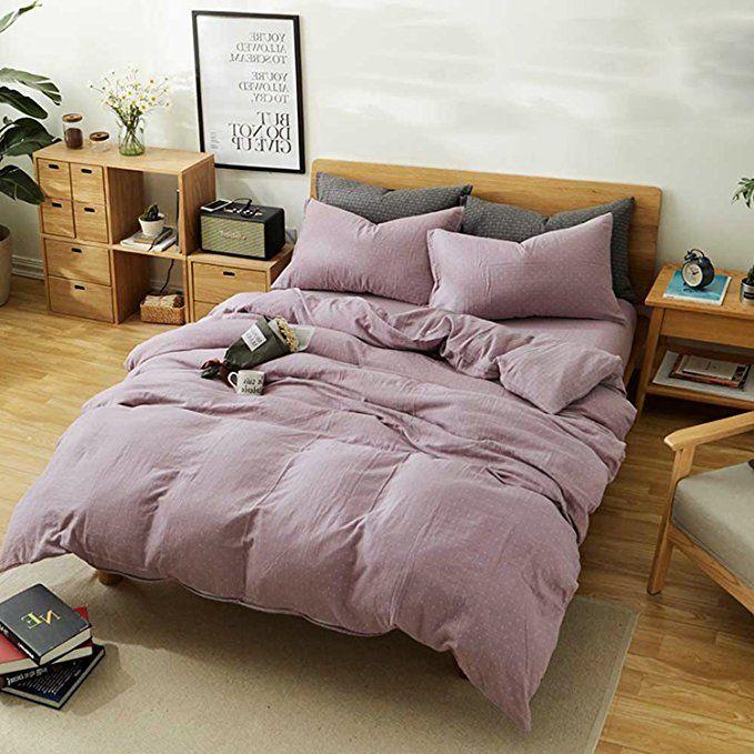 Clothknow Mauve Duvet Cover Sets Queen Full Purple Set Of 3 Reversible 1 Duvet Cover W Apartment Decor Inspiration Best Duvet Covers Bedding And Curtain Sets