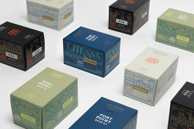 Package design for Fort Point Beer Company by San Francisco based graphic design studio Manual. #craftbeer