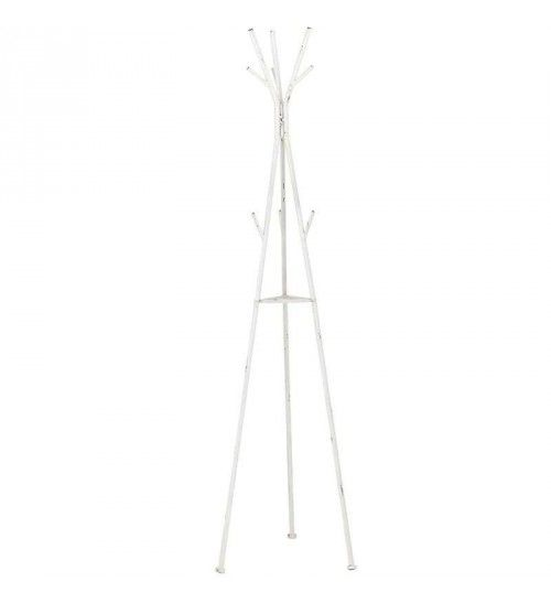 METAL COAT HANGER IN ANTIQUE WHITE COLOR 50X43X180