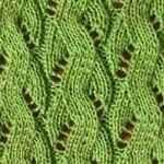 схемы вязания ажурных узоров спицами Морские волны