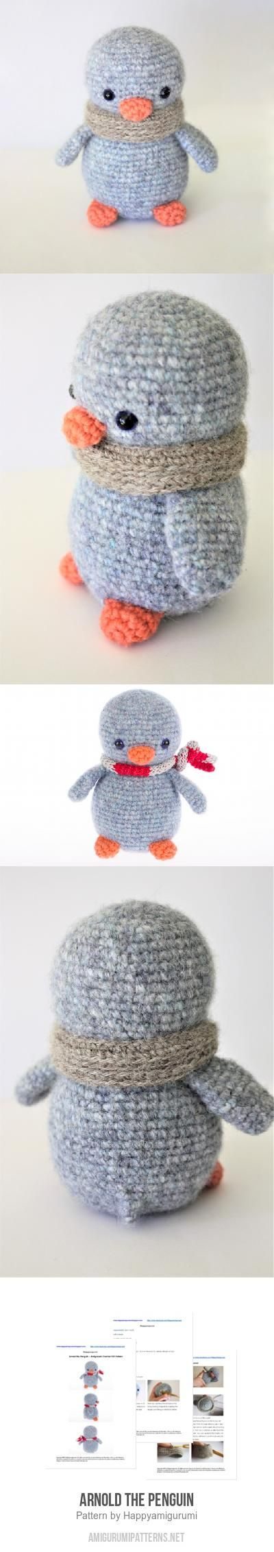 Arnold the Penguin amigurumi pattern