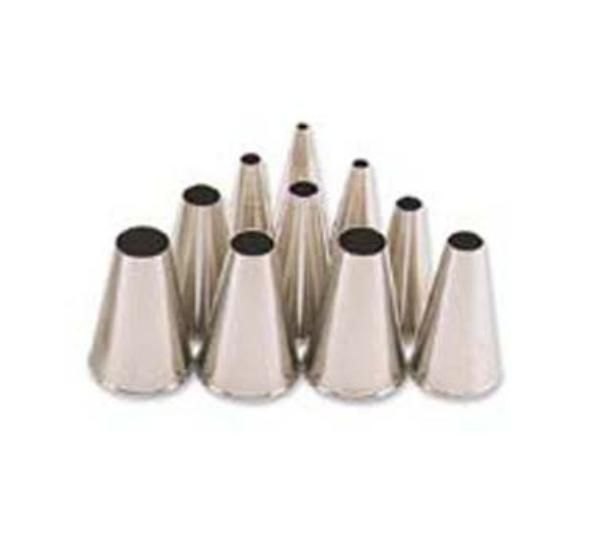 Pastry Tube, Size 0, Plain Tip, Stainless Steel