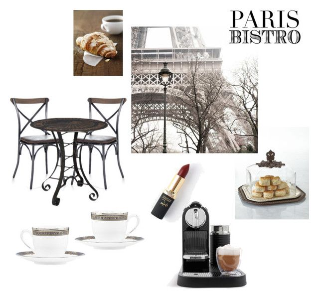 """Parisian Bistro"" by eiram-schultz on Polyvore featuring interior, interiors, interior design, home, home decor, interior decorating, GG Collection, L'Oréal Paris, Nespresso and Lenox"