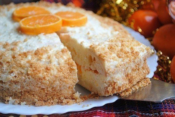 Мандариновый торт   Рецепты для Вас!