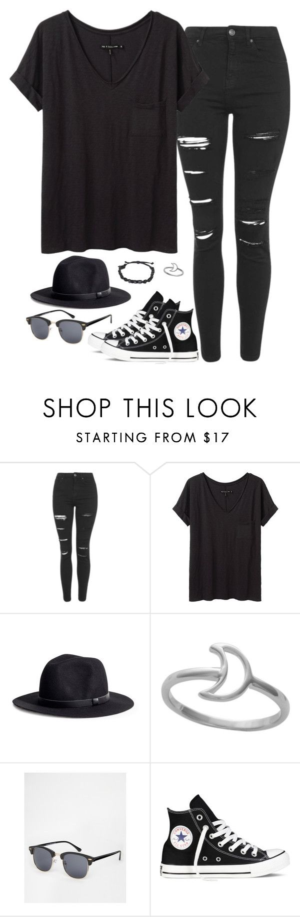 """""""Untitled #12"""" by mikasma ❤ liked on Polyvore featuring Topshop, rag & bone/JEAN, H&M, ASOS and Converse"""