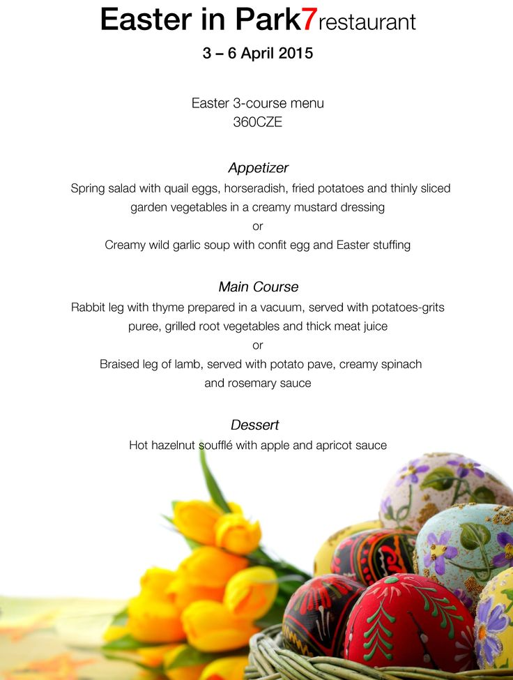 Check our #Easter menu in Parkhotel Praha!