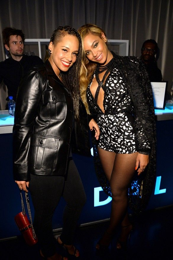 Alicia Keys and Beyonce celebrate the launch of Jay Z's new streaming service, Tidal