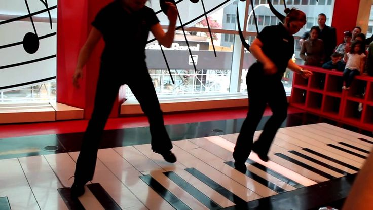 Watch These FAO Schwarz Employees Kill It On Giant Piano From Big