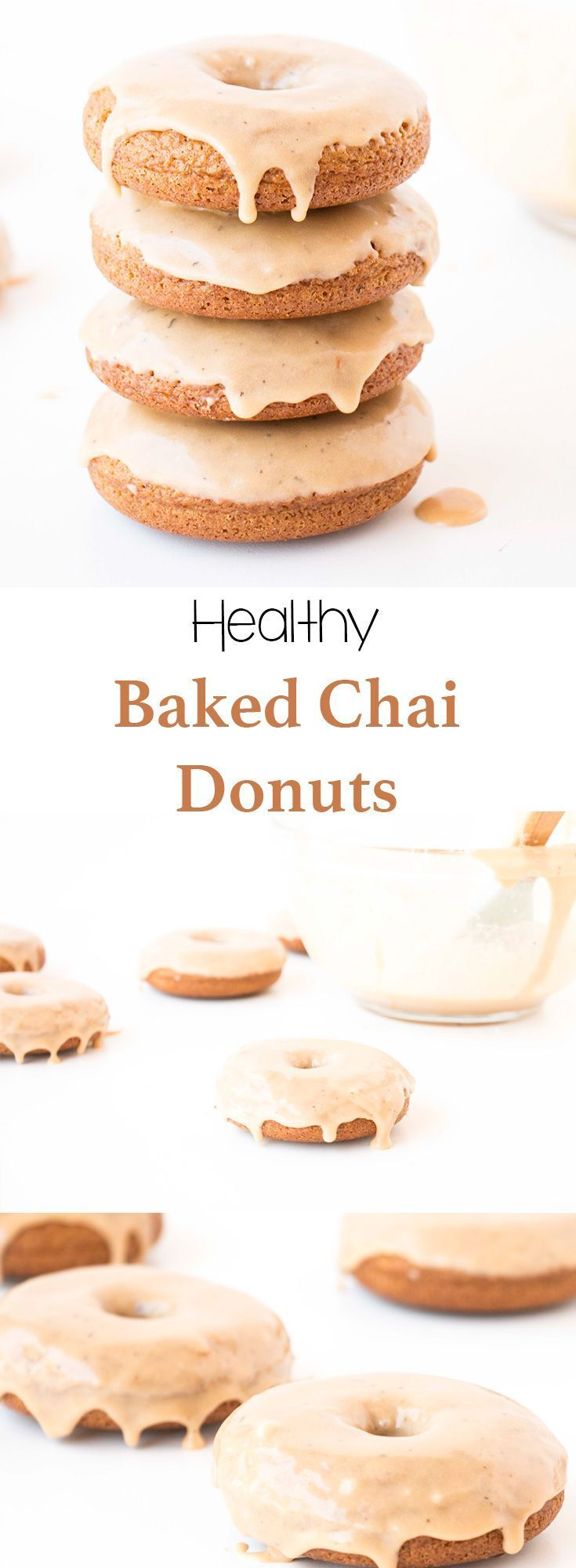 Delicious easy to make Baked Chai  Donuts that are healthier and taste way better than any store bought donuts.