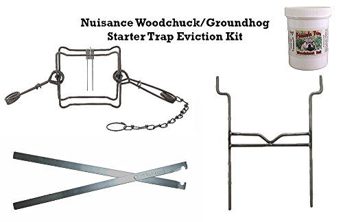 Nuisance Woodchuck/Groundhog Starter Trap Eviction Kit   http://huntinggearsuperstore.com/product/nuisance-woodchuckgroundhog-starter-trap-eviction-kit/