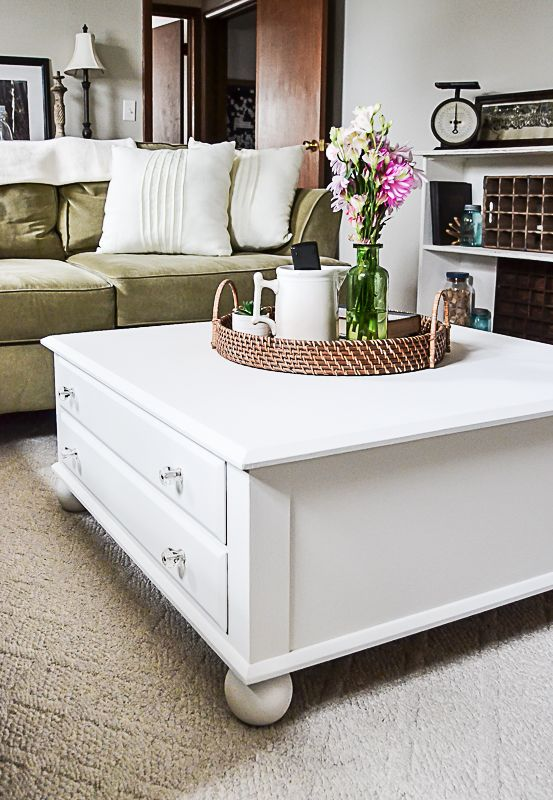 Large Square Coffee Table Makeover Crafts Diy Home Decor