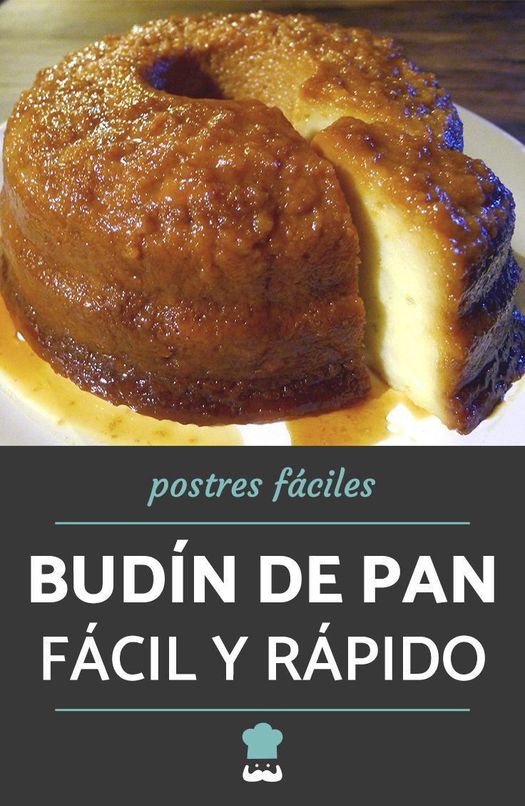 Budín De Pan Casero Económico Y Rápido Receta Budin De Pan Casero Receta De Budín De Pan Pan Receta Facil