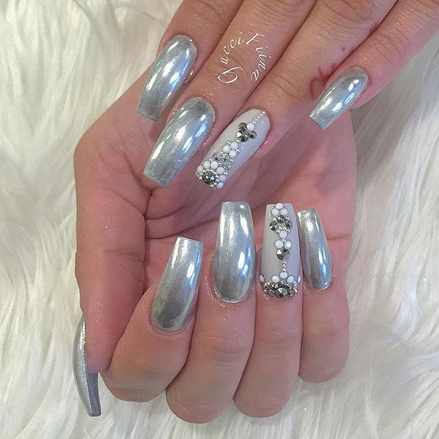 Chrome Nail Dust: 37 Best Images About Chrome Nails On Pinterest