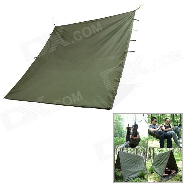Gratis Soldado multifuncional resistente al agua de nylon al aire libre de tierra Manta Mat - Verde del ejército