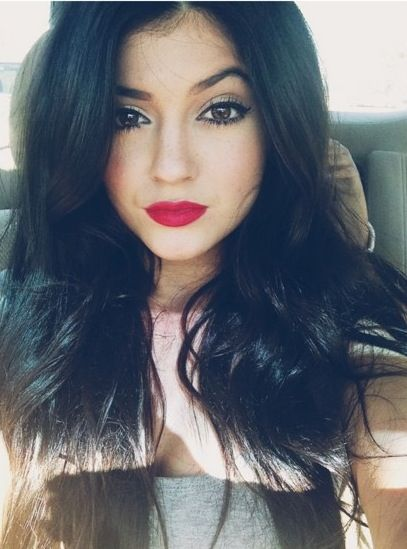 Red Lip. Kylie Jenner