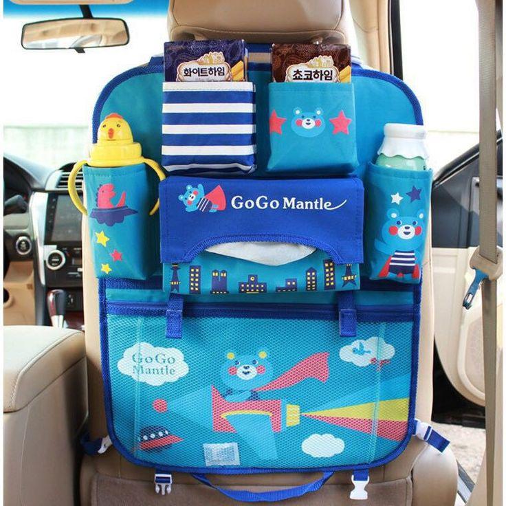 Crianças bebê Saco de Assento de Carro Encosto de Cabeça Do Carro Titular Tablet Carteira de Multi-Bolso de Armazenamento de Viagem sacos de Múmia de Volta Assento de Carro Multi-Bolsos