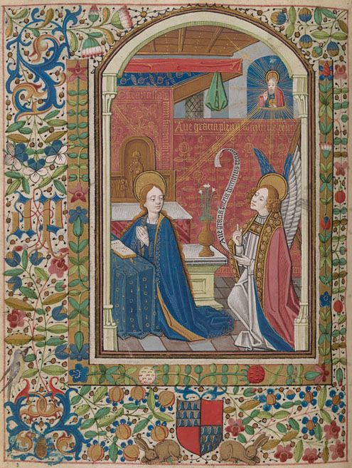 Virgin Mary: Annunciation | Book of Hours (Ms. Pierre de Bosredont) | France, Langres | ca. 1465 | The Morgan Library & Museum