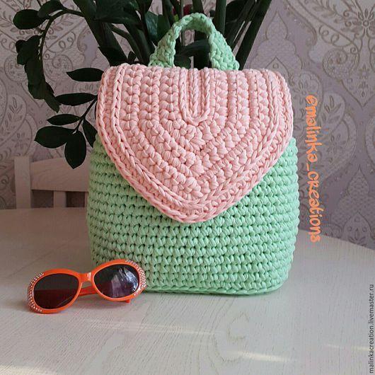 Стильный вязаный рюкзак Beauty Backpack от Malinka_Creations